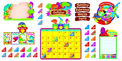 - Trend Enterprises Dino-Mite Pals Calendar Bulletin Board, Set of 100