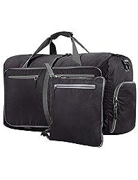 Lumbor37 Bolsa de Viaje y Deporte de Lona Plegable Mochila Unisex, Gym Duffle Bag 66cm 65L con un Bolsillo Separado para el Calzado para Mujeres y Hombres