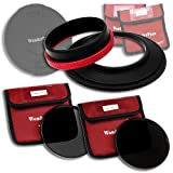 WonderPana 145 Neutral Density Kit - 145mm Filter Holder, Lens Cap, ND16 and ND32 Filters for the Tokina 16-28mm f/2.8 AT-X Pro FX Lens (Full Frame 35mm)