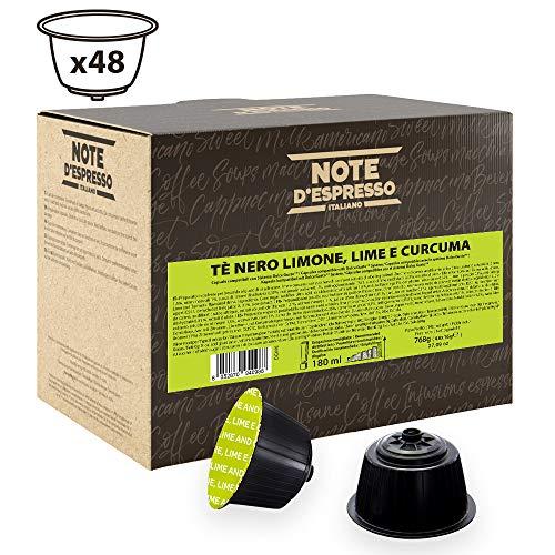 Note D'Espresso Black Tea, Lemon, Lime and Curcuma, Kapseln ausschließlich Kompatibel mit Nescafé* und Dolce Gusto* Kapselmaschinen 16 g x 48 Kapseln