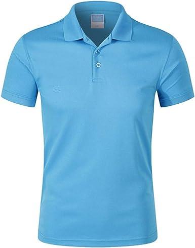 Camisas Polo de los Hombres Algodón Manga Corta Camisas Polo de ...