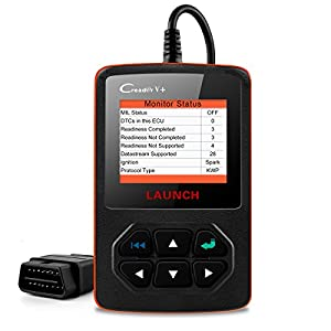 LAUNCH X431 Creader V Plus OBD2 OBDII Automotive Code Scanners with Full OBD II Functions Auto Diagnostic Scan Tool Check Car Engine Light Fault Codes Readers with O2 Sensor EVAP System Test