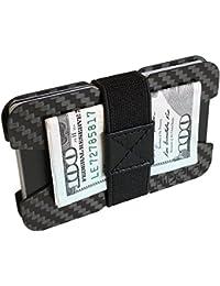 Minimalist Wallets for Men - Slim Cash, ID & Credit Card Holder - Light Weight Front Pocket Mens Wallet - Includes 4 Money Clip Bands