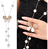 YouBella Fashion Jewellery Stylish Pendants for Girls with Long Chain Pendent Party Western Wear Necklace for Women & Girls