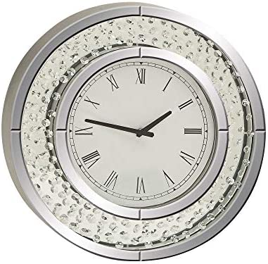 River Parks Studio Cielo Mirrored 20″ Round Wall Clock