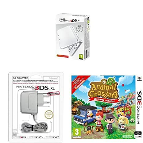 New Nintendo 3DS XL Color Blanco Perla + Adaptador a ...