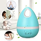 Skymore 200ml Mini Essential Oil Diffuser,Cool Mist Aromatherapy Humidifier with 7 Colors Changing LED Lights, for Baby Home Bedroom Living Room Office Spa Light Blue