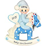 FLORIDA GLASSES Personalized Christmas Ornament Baby's 1st First Christmas (Boy)