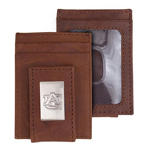 Eagles Wings Auburn University Tigers Wallet Front Pocket Leather Wallet