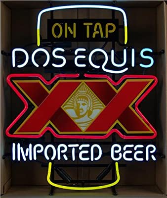 Desung New DOS Equis XX Imported Beer On Tap Neon Sign (Multiple Sizes Available) Man Cave Signs Sports Bar Pub Beer Neon Lights Lamp Glass Neon Light DX177