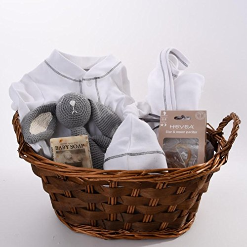 Baby Gift Basket for Newborns Organic - Modern Grey