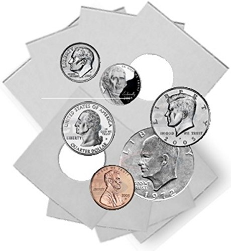 Coin Flip Assortment - Cardboard 2x2 Holders - 25 each of 6 - Cardboard Coin