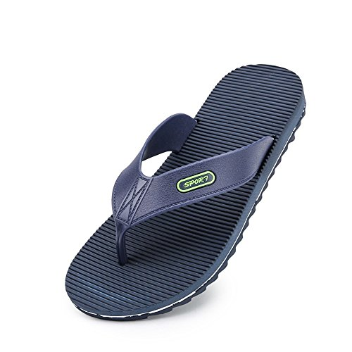 Anti Scarpe Sandali spiaggia da EU uomo Nero Flip New Wind resistenti uomo Dimensione da da skid Casual all'usura Jiuyue Outdoor shoes Stripes 42 Blu flop Color TqwPPz