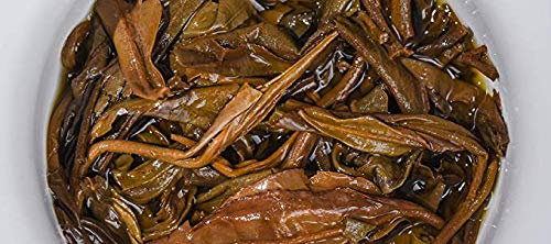 In 2003, the tea green printing special edition [Chunrui] Laosheng tea [fifty years of Chen Fang conversion] taste is very unique [Yunnan seven son cake tea] 2003 pressed old tea first class 2.5kg 357 by NanJie (Image #2)