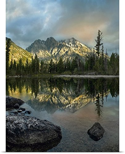 greatBIGcanvas Poster Print entitled Mount Saint John and Jenny Lake, Grand Teton National Park, Wyoming by Tim Fitzharris - Jenny Grand Lake