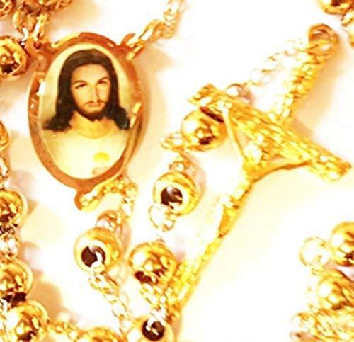 - Oro 18K Rosario Joyería de Cadena Jesús católico confirmación crucifijo: Jesus Gold Filled Rosary