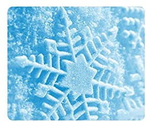 Brain114 Customized Mouse Pad Oblong Snowflake Personalized Mousepad Non-Slip Gaming Mouse Pads