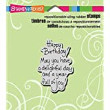 """Stampendous Cling Rubber Stamp, """"Delightful Birthday"""""""