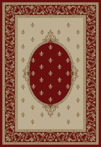 """Concord Jewel F.Lys Medallion Red 5'3""""X7'7"""" Rug from Concord Global Trading"""
