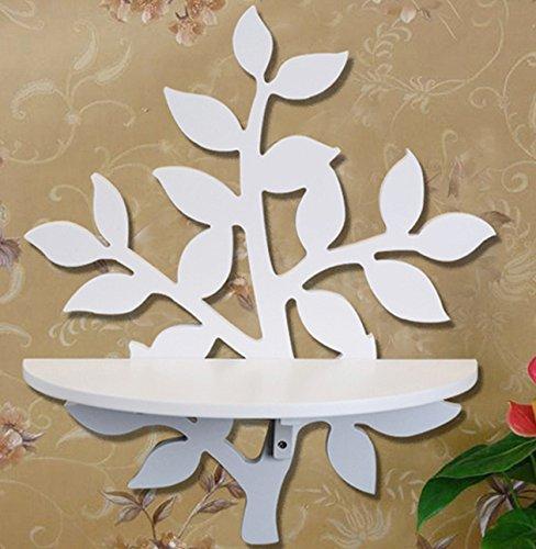 Pastoral Leaves Decorative Shelf Wall Mount Wall Shelf