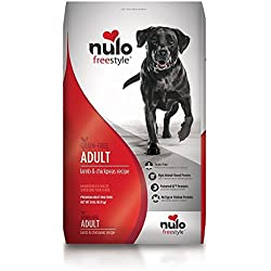 Nulo Grain Free Dog Food: All Natural Adult Dry Pet Food for Large and Small Breed Dogs (Lamb, 24lb)