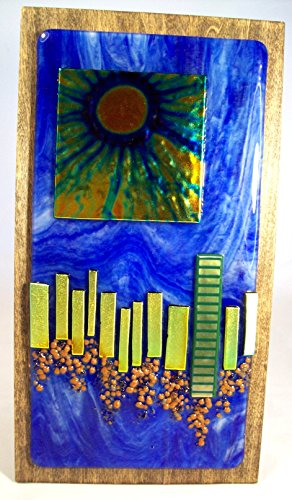 Sunrise City - Fused Glass - fused glass home decor