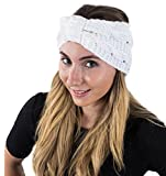 head wrap knit - Winter Headband for Women - Knit Headband - Winter Head Wrap - Ear Warmer Headbands by CoverYourHair (White Knit)