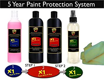 X1 Shine And Seal Premium Car Polish And 3 5 Year Paint Protection Sealant System Recommended 4 Bottle System Includes Aftercare