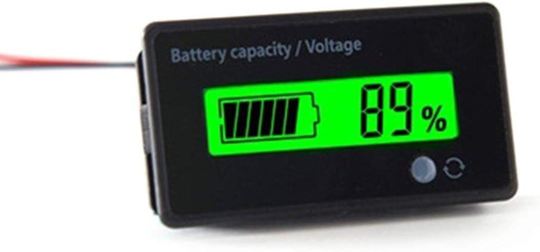 Lorenlli Universelles wasserdichtes 6-63-V-Digital-LCD-Display S/äure-Blei-Lithium-Batteriekapazit/ät Spannungsanzeigepr/üfger/ät
