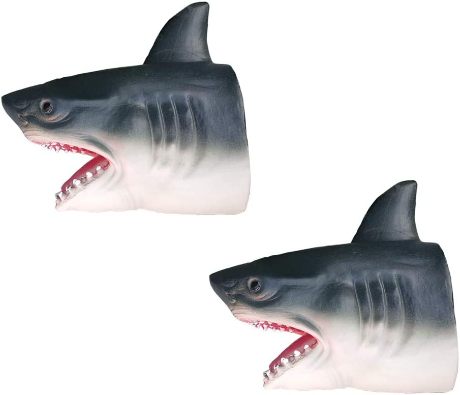 Echo Circe Shark Puppets Toy Sharks Hand Gloves Toy Soft Rubber 6.3