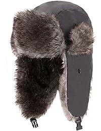 Trapper Warm Russian Trooper Fur Earflap Winter Skiing Hat Cap Women Men Windproof