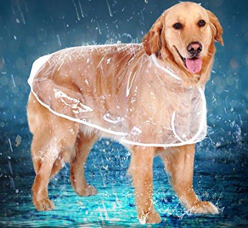 Lindo Perro del Impermeable del Impermeable al Aire Libre Transparente para Pequeñas, Medianas y Grandes Perros de XS ----...