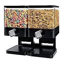 Zevro KCH-06134 Compact Dry Food Dispenser, Dual Control, White/Chrome