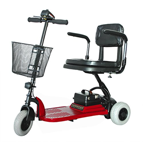 (Shoprider - Echo 3 - Portable Travel Scooter - 3-Wheel - Red - PHILLIPS POWER PACKAGE TM - TO $500 VALUE)