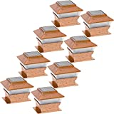 GreenLighting 8 Pack Solar Square Outdoor Post Cap Deck Lights for 4x4 (Copper)