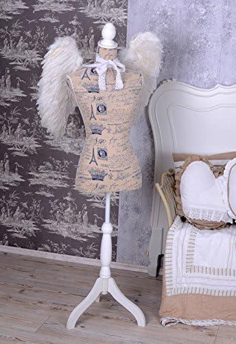 Schneiderbüste Shabby Torso Schaufensterbüste Kleiderpuppe Büste Holzständer neu