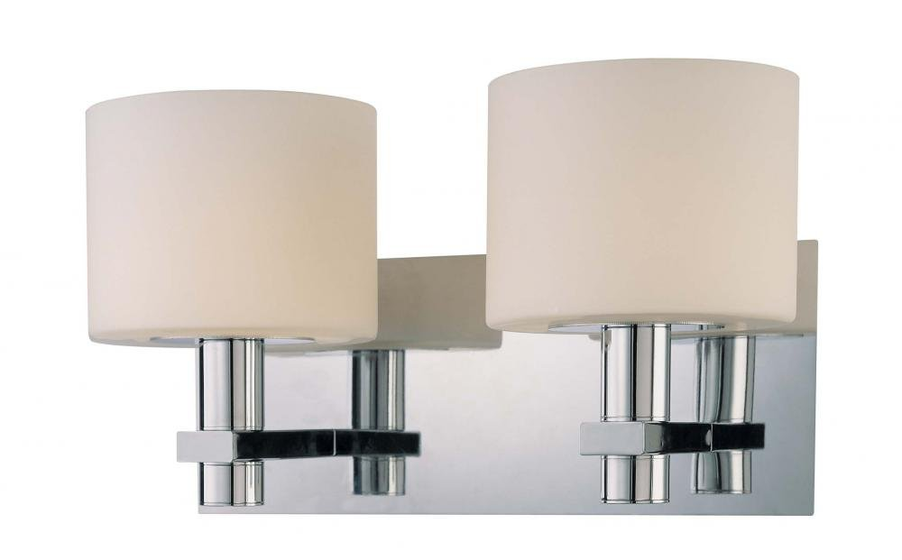 George Kovacs P5192-077, Stem Glass Wall Vanity Lighting, 2 Light, 100 Total Watts, Chrome