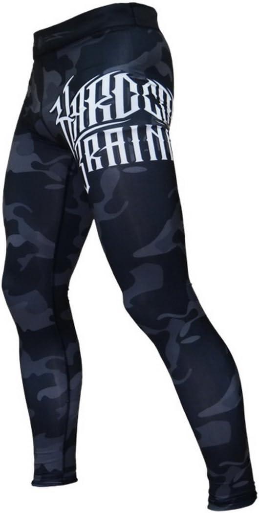 Pantalones de compresi/ón Hardcore Training Night Camo MMA BJJ Fitness Grappling Mallas compresivas