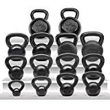 Yes4All Solid Cast Iron Kettlebells - Weight Available: 5, 10, 15, 20,...