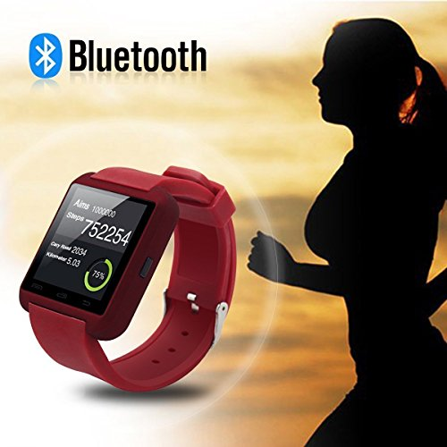U8 Bluetooth Smart Watch Phone WristWatch for IOS Android iphone/Samsung/HTC (White) - 3