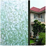 Bloss 3D Window Films Window Stickers Static Decorative Films for Home/Office No Glue Self-Adhesive privacy protection Anti UV (17.7-by-78.7 Inch) (45 x 200Cm)