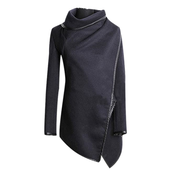 Invierno Capa Abrigos para Mujer Slim Largo Chaquetas de Lana Moda Irregular Stitching Cuello Alto Parka: Amazon.es: Ropa y accesorios