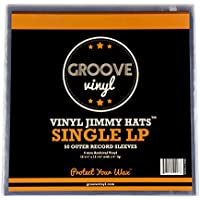 Groove Vinyl Single LP Premium Outer Record Sleeves (50 Pack)