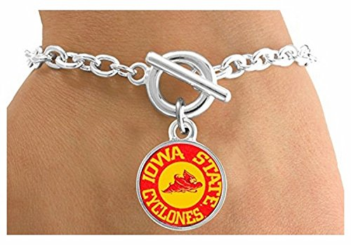 [Licensed Iowa State University Cyclones Mascot & Name Bracelet] (Cyclone Mascot Costumes)