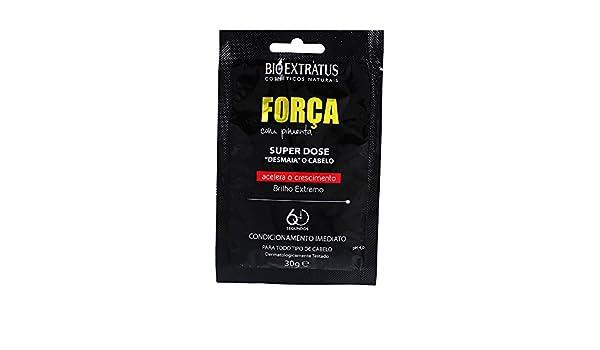 Amazon.com : Linha Forca com Pimenta (Forca e Crescimento) Bio Extratus - Super Dose Desmaia Cabelo 30 Gr - (Bio Extratus Pepper Strength (Strength And ...