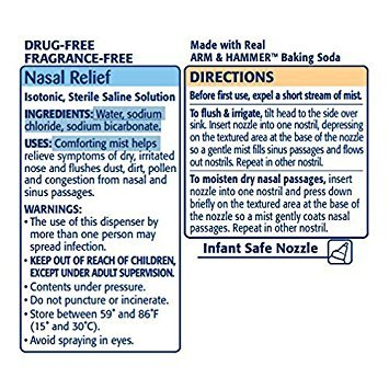 Simply Saline Sterile Saline Nasal Mist, Baby 1.5 fl oz (44 ml) (Pack of 2)
