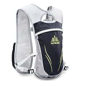 AONIJIE Unisex 5.5L Running Race Hidratación Chaleco Hidratación Pack Mochila (Gris): Amazon.es: Deportes y aire libre