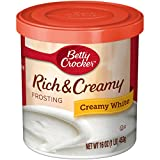 Betty Crocker Rich & Creamy Frosting, Creamy White, 16 oz Canister (Pack of 8)