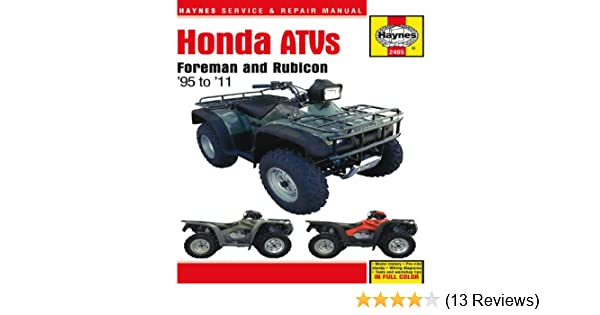 Honda atvs foreman and rubicon 95 to 11 haynes service repair honda atvs foreman and rubicon 95 to 11 haynes service repair manual editors of haynes manuals 9781563929908 amazon books fandeluxe Gallery