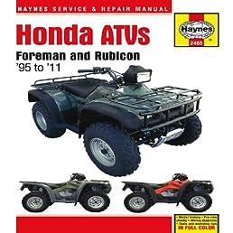 honda atvs foreman and rubicon 95 to 11 haynes service repair rh amazon com  honda foreman 450 s owners manual